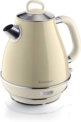 Ariete 2869 Bollitore Elettrico Vintage, Acciaio Inox, 1,7 L, Autospegnimento, 2000 W, per Acqua,...