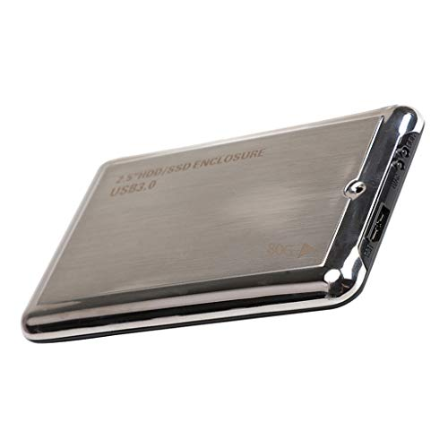 non-brand Baoblaze Disco Rigido Esterno Portatile con USB 3.0, Hard Disk da 80GB, Lega di Alluminio