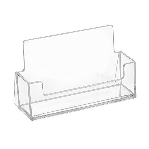 10pieza tarjeta de visita Soporte horizontales–zeigis®/Soporte Para Tarjeta de visita/transparente/mesa/independiente/mesa/mesa expositor