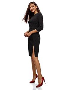 oodji-Collection-Mujer-Vestido-con-Cremallera-y-Abertura-Lateral