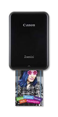 Canon Zoemini Pv-123 - Mini Impresora (Bluetooth, USB, 314 x 600 PPP, Canon Mini Print) Color Negro