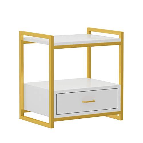 Bedside table Comodino Comodino in Legno Moderno Minimalista Bianco Camera da Letto con cassetti...