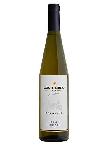 MÜLLER THURGAU Trentino DOC - Conti d'Arco - Vino bianco fermo 2018 - Bottiglia 750 ml