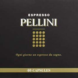 Pellini Caffè, Espresso Pellini Confezione Gift Box, Compatibili Nespresso, 40 Capsule