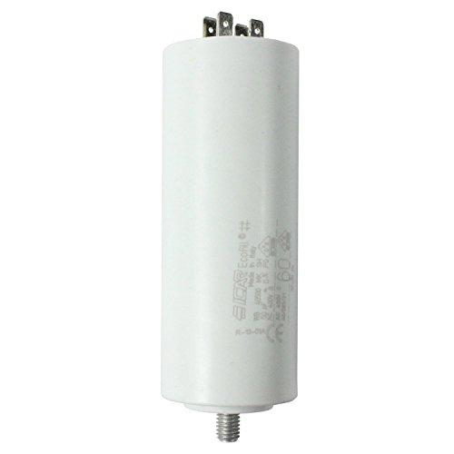 Spares2go Start Run condensatori motore per apparecchi Smeg Microfarad 5UF a spina piatta 80UF/tag...