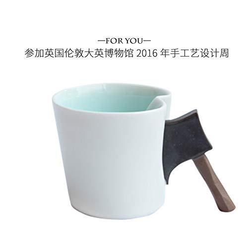 MAKEBEIZI Tazas de café Taza de Mano Original de cerámica Taza de Hacha Creative Boy Cup Taza de café de Regalo