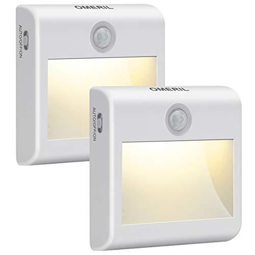 Luce Notte LED Batteria, OMERIL Luce Notturna con Sensore di Movimento, 3 Modalità Illuminazione,...