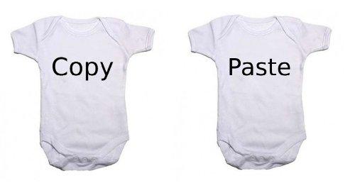 Zwillingsbody Copy & Paste in weiß