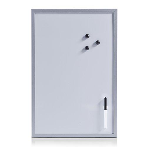 Zeller 11538 Lavagna Magnetica, MDF, Grigio, 59x39.5x1.5 cm