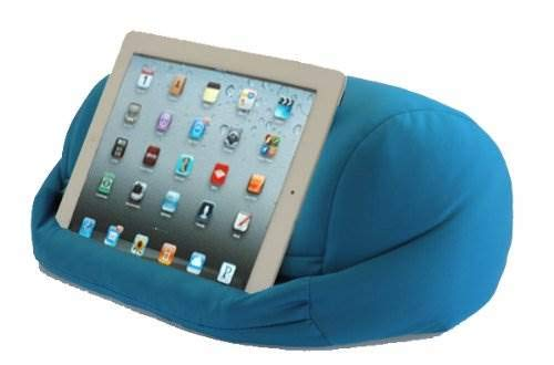 LAP PRO - Stand/Caddy Universal Beanbag Lap Stand Tablet Accessory for iPad 1 iPad 2 iPad 3 iPad 4 & all Android Tablets E-Readers Books & Google Devices - Bed Couch Travel Tablet Electronics Accessory. (Blue)