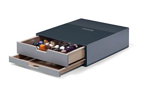 DURABLE 338358 - Coffee point box S, stazione porta-capsule e accessori, 2 cassetti, capacità 70...