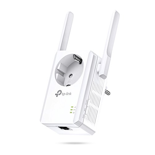 TP-Link TL-WA860RE - Repetidor de red Wifi extensor amplificador de cobertura(Puerto Ethernet, 10/100 mbps, con enchufe, 300 Mbps, 2 antenas)