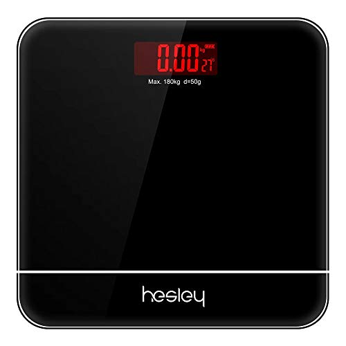 HESLEY Weighing Scale for Human Weight (Silver, 180 Kg)