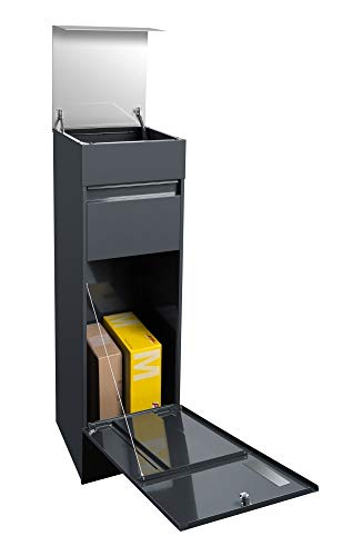 frabox Design Paketkasten Namur EXKLUSIV Edelstahl/Anthrazitgrau - 3