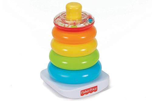 Fisher-Price- Piramide 5 Anelli, Giocattolo Impilabile per Bambini 6+ Mesi, FHC92