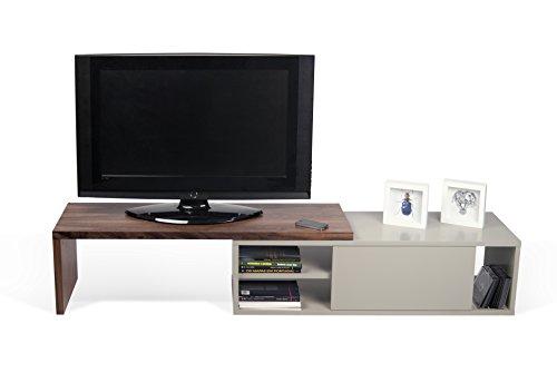 TemaHome Move Mobile Porta TV, Legno, Noce/Grigio, 110x35x25 cm