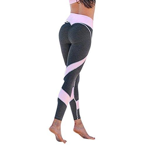 Homebaby A forma di Cuore Leggings Sportivi Donna - Maglia Eleganti Leggings Sport Opaco Yoga...