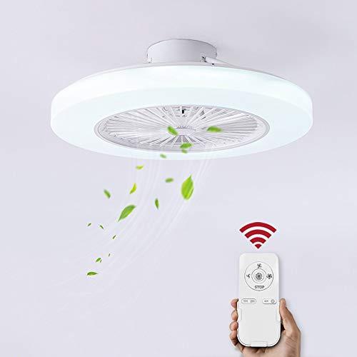 Ventilatore a soffitto con lampada, Fan con plafoniere a LED 36W, Luce bianca fredda 6000K,...