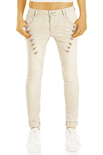 bestyledberlin Damen Baggy Jeans, Regular Fit Boyfriend Jeans, Low...