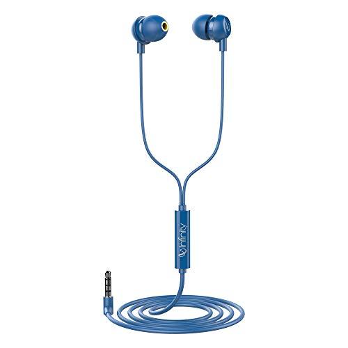 Infinity (JBL) Zip 20 in-Ear Deep Bass Headphones with Mic (Mystic Blue)