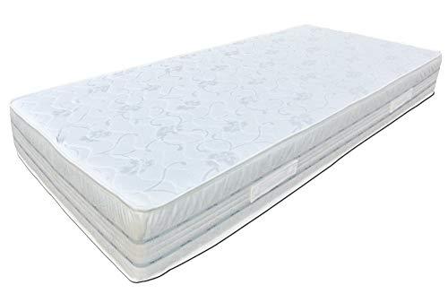Baldiflex Easy 2.0 in Memory Foam Materasso Memoria, Poliuretano, Bianco, 120x190x22cm