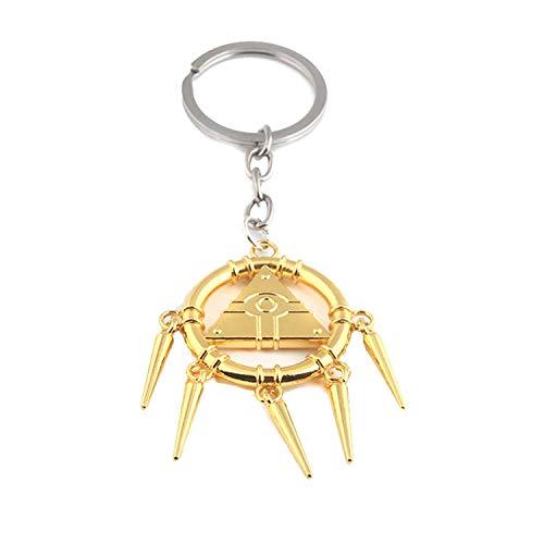 Game Yu-Gi-Oh Millennium Wheel Wisdom Keychian YuGiOh Millennium Items Puzzle Eye Tassel Keyring...