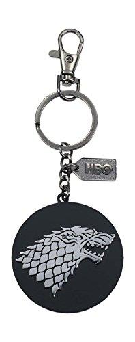 Game of Thrones- Llavero logo de metal Stark, Color plateado (SD Toys SDTHBO27519)