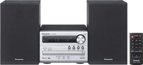 Panasonic SC-PM250EG-S Micro-Anlage mit HiFi-System (Bluetooth, CD, UKW Radio, 20 Watt RMS) silber