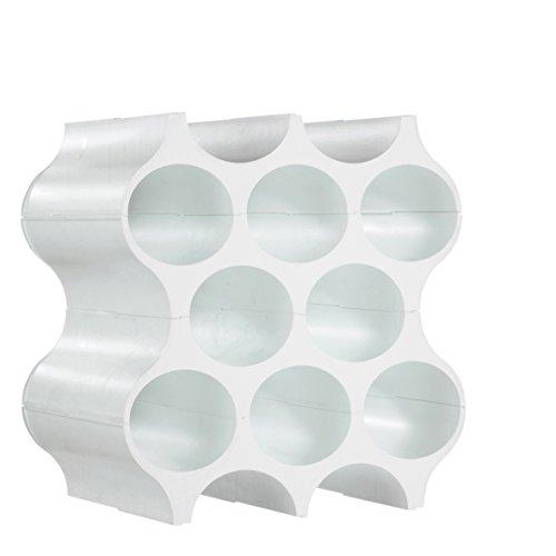 koziol Portabottiglie modulare bianco, vetro