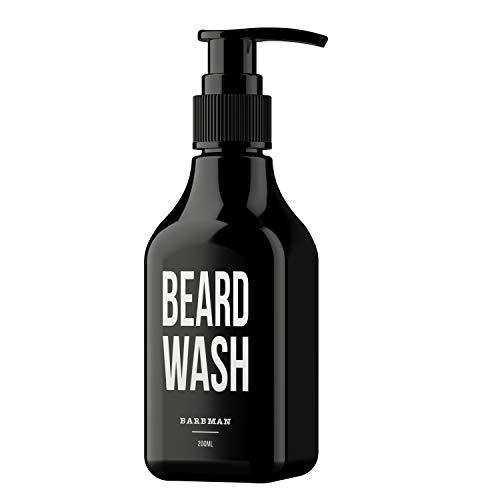 BARBMAN: Shampoo per Barba (200ml) al Legno di Sandalo, pulisce ogni giorno viso e barba in profondità, Regalo ideale per l'uomo con la Barba