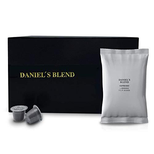 DANIELS BLEND - Economy Pack 100 Cápsulas de Café económico Compatibles con Máquinas Nespresso - INTENSO