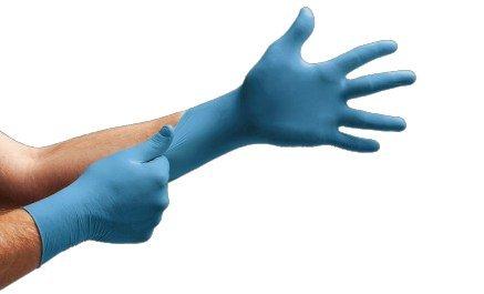 Guanto monouso da esplorazione in nitrile confezione da 1000 pezzi colore blu (XL)