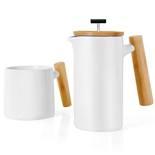 NeoCasa Caffettiere a Pistone/Caffettiera Francese/French Press/Pressofiltro in ceramica (grande,...