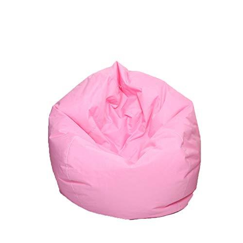 Pouf per bambini e adulti, impermeabile, per interni ed esterni, con cerniera, senza imbottitura, ideale per sedia da gioco e sedia da giardino rosa