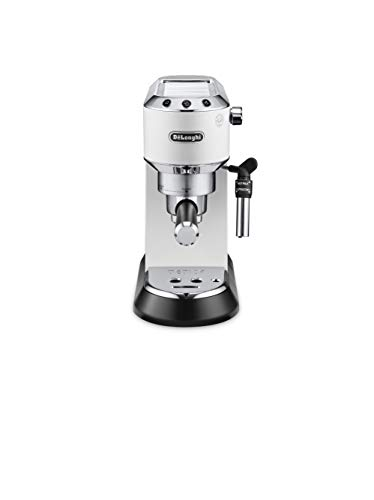 DeLonghi EC 685.W Macchina per Caffè Espresso Manuale, 1350 W, 2 Tazze, Metallo, Bianco