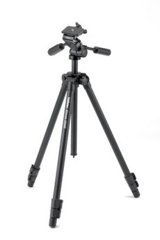 Velbon Sherpa 4350D - Trípode (58,5 cm, 1,51 kg, Aluminio, Negro)
