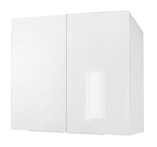 Berlenus CP8HB - Mobile alto da cucina con uno 2 ante, colore: Bianco brillante