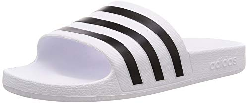 adidas Adilette Aqua Scarpe da Spiaggia e Piscina Unisex adulto, Bianco (Ftwr White/Core Black/Ftwr...