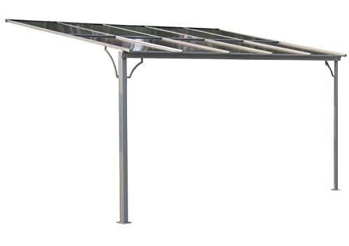 GRASEKAMP Qualität seit 1972 Terrassendach Hardtop 360x300cm Verona Doppelstegplatten Polycarbonat Hohlkammerplatte