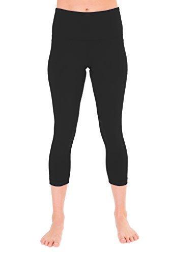 90 Degree By Reflex Slip boxer a vita alta - Power Flex Capri Leggings - Garanzia di qualità - Medium Black