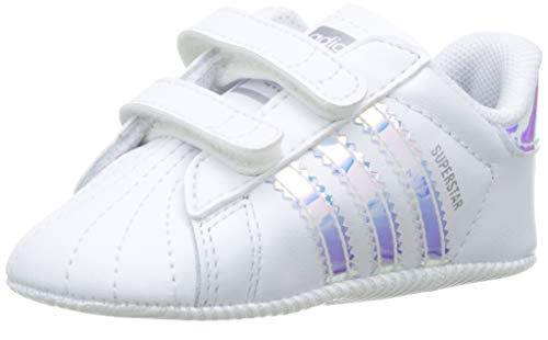 adidas Superstar Crib, Sneaker Unisex Bimbo, Bianco Ftwr White/Core Black, 18 EU