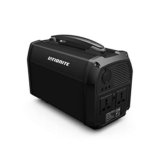 Litionite Titan 300W / 124.800mAh Generador de energía de Litio portátil - 2X AC Toma de Corriente - 3X USB (1x QC3.0) - 1x Type-C PD - 3X DC - Batería Externa para Ordenador/TV/Cámara/Video/Drone/PC
