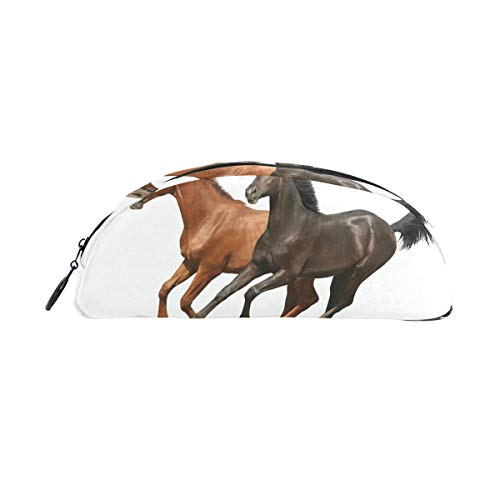 FANTAZIO - Astuccio portapenne per ragazze con due cavalli
