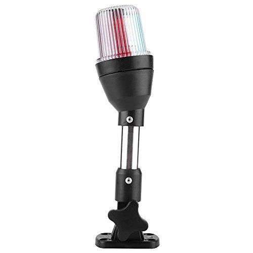 Lampada LED per barche, LED orientabile Lampada di navigazione Marine Anchor Light Yacht Segnale...
