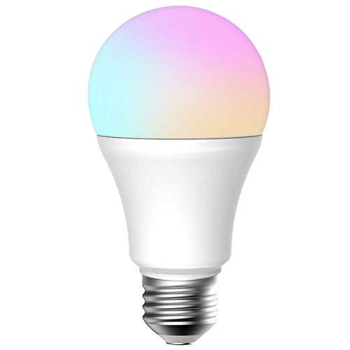 Lampadina LED Dimmerabile Wi-Fi E27 Bianco Regolabile (2700-6500K), 9W equivalente a 60W A21...