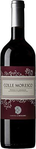 6 x 0.75 l - Colle Moresco, vino rosso sardo, Monica di Sardegna Doc, prodotto dalla Cantina di Mogoro, Sardegna