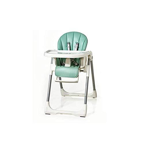 CHUTD Seggiolone, Sedia da Campeggio Pieghevole per Bambini Tavolo da Pranzo per Bambini e sedie Sedile Multifunzione per la casa con Doppio Vassoio Regolabile