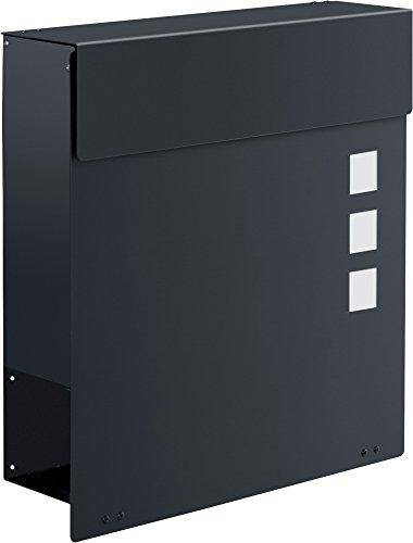 Frabox Design Briefkasten NAMUR EXKLUSIV Stahl lackiert, RAL 7016 Anthrazitgrau