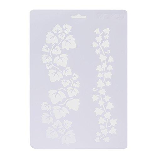 demiawaking 6pcs capas plantillas para DIY pared pintura álbumes de recortes plantilla para repujado tarjetas de papel decorativa recortes