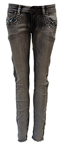 Blue Monkey Jeans, Damen, Laura BM-10126, Front Pocket, Grau (W29/L29)